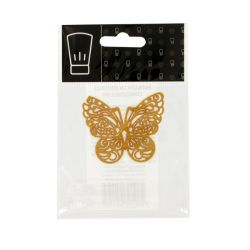 Papillon or en dentelle comestible