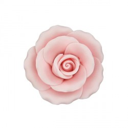 Rose rose en pastillage 9 cm Patisdecor