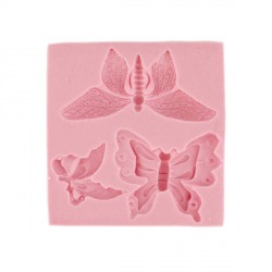 Moule silicone papillons Technicake