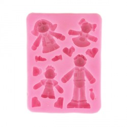 Moule silicone personnages Technicake