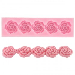 Moule silicone 5 roses Technicake