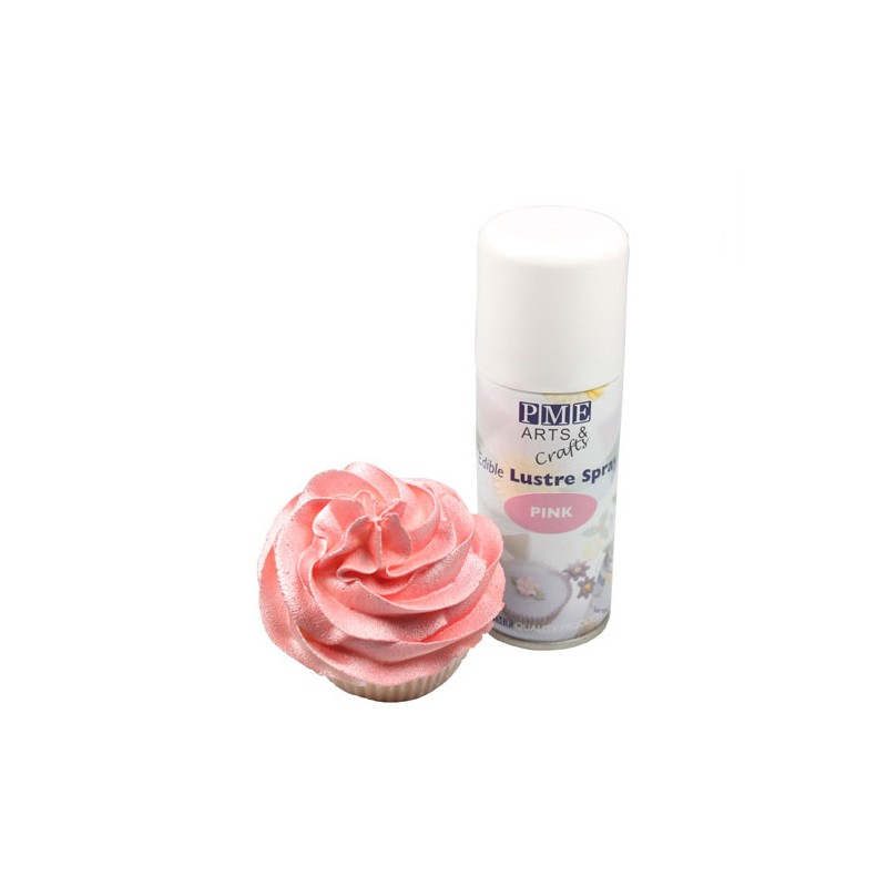 spray nacr rose pme 100 ml - Colorant Alimentaire Rose